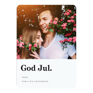 Foto Julkort | Modern Typografi Card