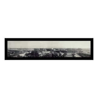 Foto justa 1909 del manganeso de San Pablo del est Póster
