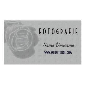 foto kamera tarjetas de visita