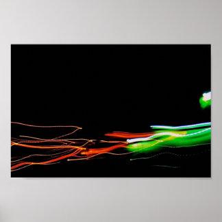 Foto ligera abstracta Glent de la pintura Poster