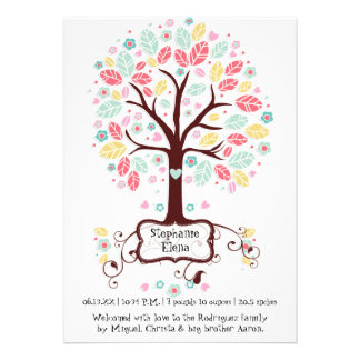 Foto linda caprichosa del bebé del árbol de la flo anuncio personalizado