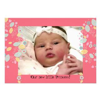 Foto linda caprichosa del bebé del árbol de la flo invitación personalizada