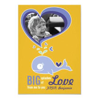 """Foto linda de la tarjeta del día de San Valentín Invitación 3.5"""" X 5"""""""