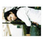 Foto linda del chica de la acción postal