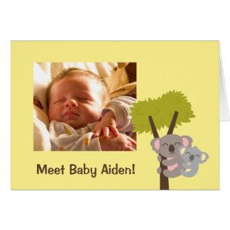 Foto linda del oso y de la mamá de koala del bebé tarjeta de felicitación