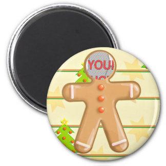 Foto linda del personalizable de la galleta del pa imán redondo 5 cm