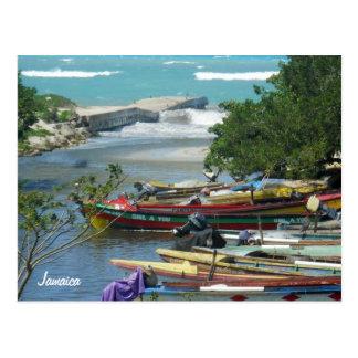 Foto local de Jamaica del río de Negril de los Tarjetas Postales