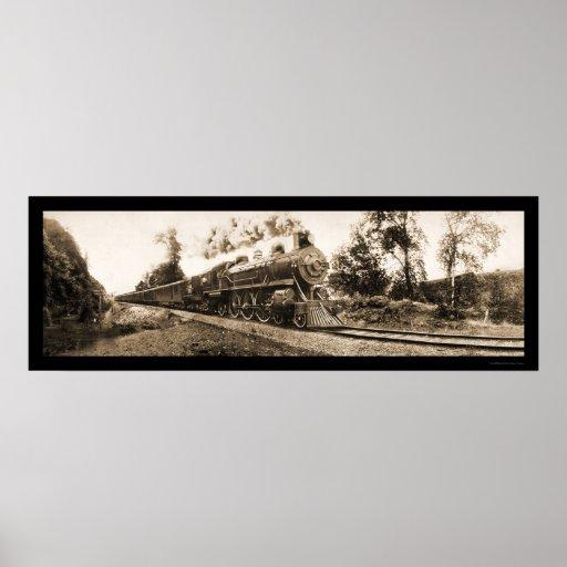 Foto locomotora 1906 del ferrocarril de Oregon Poster