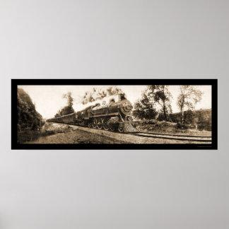Foto locomotora 1906 del ferrocarril de Oregon Póster