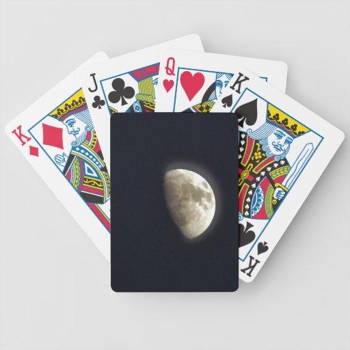 Foto lunar de la astronomía de la media luna barajas de cartas
