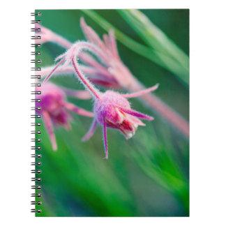 Foto macra de las flores de la pradera en Montana Libretas Espirales