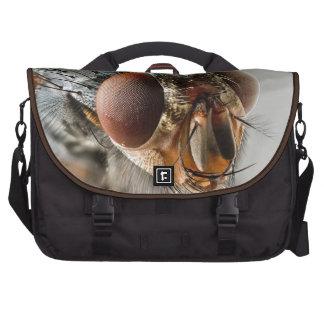 Foto macra de una mosca bolsa para ordenador
