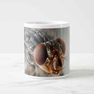 Foto macra de una mosca taza grande