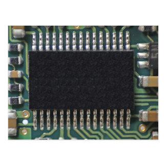 Foto macra del componente de la placa de circuito postal