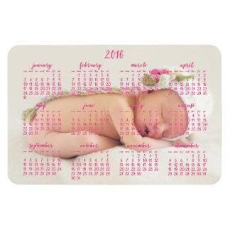 Foto magnética 4x6 del bebé del calendario del imanes flexibles