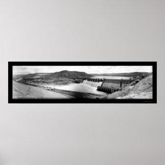 Foto magnífica 1942 de la presa de Coulee Impresiones