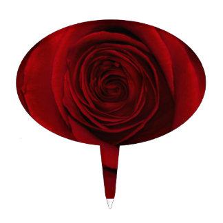Foto magnífica de la macro del rosa rojo decoraciones de tartas