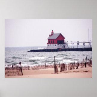 Foto magnífica de la playa del asilo póster