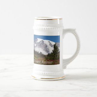 Foto majestuosa del Monte Rainier Jarra De Cerveza