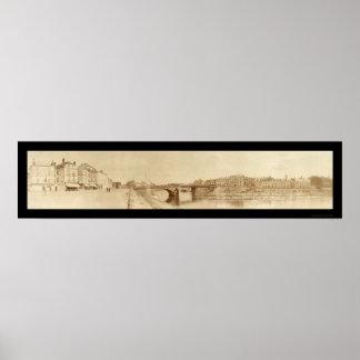 Foto marina 1918 de Thierry del castillo francés Póster