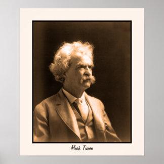 Foto Mark Twain del arte Póster