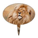 Foto masculina del león figuras de tarta