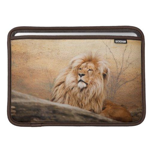 Foto masculina del león funda macbook air