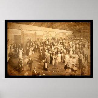Foto masónica 1906 de DC del festival Póster