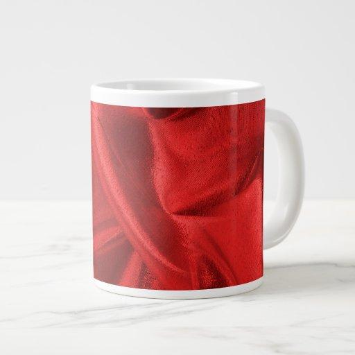 Foto metálica roja arrugada de la tela de Lame Taza Grande