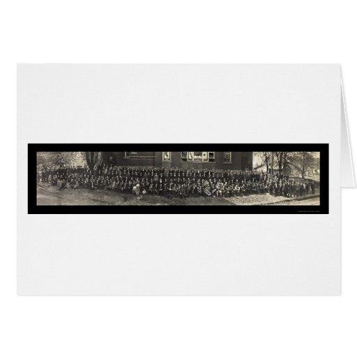 Foto metodista 1911 de la clase de la biblia tarjeta de felicitación