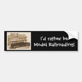 Foto modelo pasada de moda del tren pegatina para auto