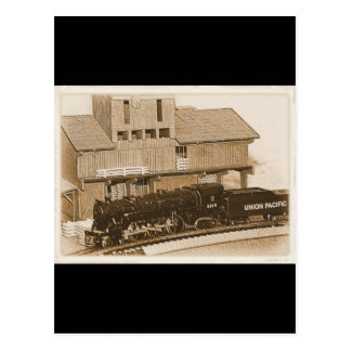 Foto modelo pasada de moda del tren postal