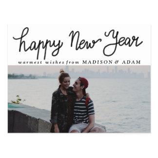 Foto moderna de la tipografía de la Feliz Año Tarjetas Postales