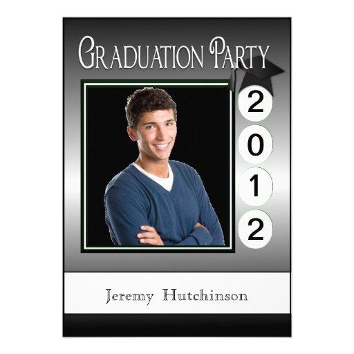 Foto moderna del personalizado de la fiesta de gra invitación personalizada