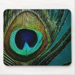 foto Mousepad de la pluma del pavo real del fatfat Alfombrilla De Ratón