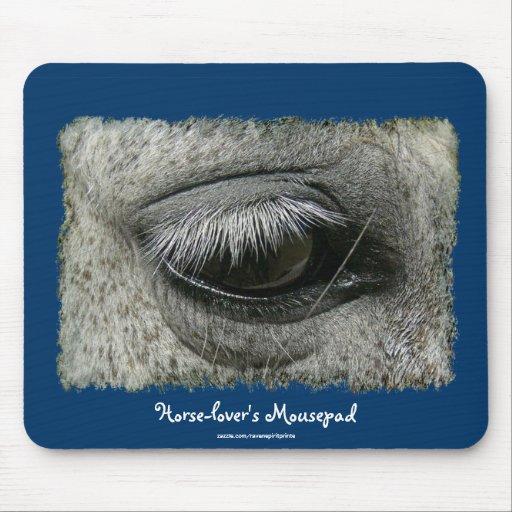 foto Mousepad del ojo del caballo del Equino-amant