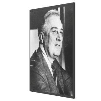 Foto nacional de los archivos de FRANKLIN D. Impresión En Lienzo Estirada