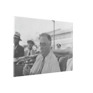 Foto nacional de los archivos de FRANKLIN D. Impresión En Lona Estirada