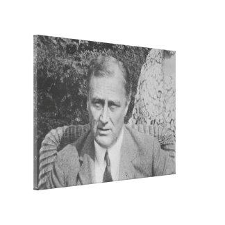 Foto nacional de los archivos de FRANKLIN D. Impresiones En Lienzo Estiradas
