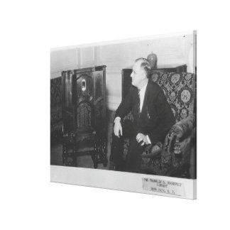 Foto nacional de los archivos de FRANKLIN D. ROOSE Impresión De Lienzo