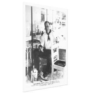 Foto nacional de los archivos de FRANKLIN D. ROOSE Lona Envuelta Para Galerías