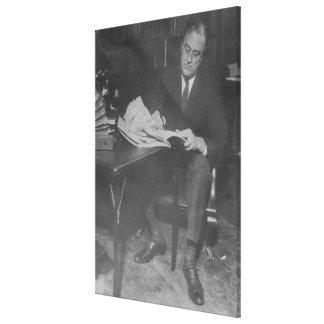 Foto nacional de los archivos de FRANKLIN D. ROOSE Lona Estirada Galerías