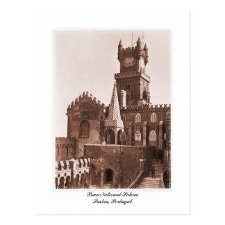 Foto nacional del palacio del vintage postal