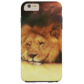 Foto Napping del animal salvaje de rey Of The Funda De iPhone 6 Plus Tough