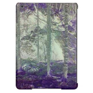 Foto negativa del bosque funda iPad air