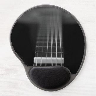 Foto negra de la guitarra acústica alfombrilla de raton con gel