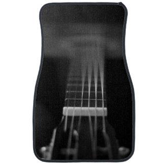 Foto negra de la guitarra acústica alfombrilla de coche