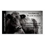 Foto negra del ganado de Angus para el rancho o la Plantillas De Tarjetas De Visita