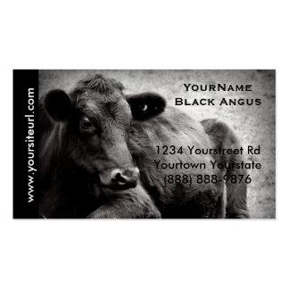 Foto negra del ganado de Angus para el rancho o la Tarjetas De Visita