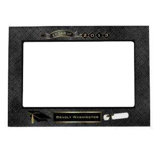 Foto negra hermosa de la graduación de la mirada d marcos magneticos para fotos